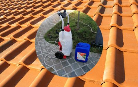 Pour le nettoyage de toiture, c'est le DALEP 2100 !